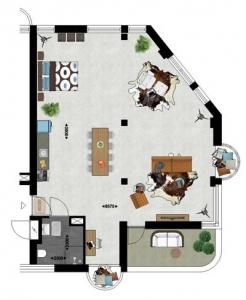 Studio Type 3 Duurzame appartementen De Klanderij te Leeuwarden