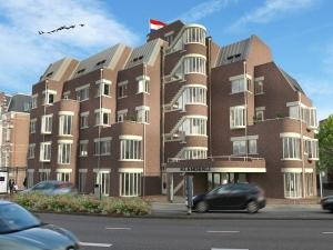 Voorgevel Duurzame appartementen De Klanderij te Leeuwarden